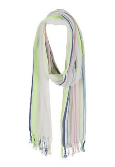 Accessories Under $20: scarf with stripes and fringe (original price, $16) available at #maurices