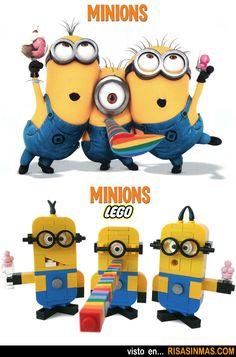Parecidos razonables: Minions y Minions LEGO