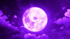 gif sky moon space purple clouds Magic fantasy scenery magical anime gif anime scenery