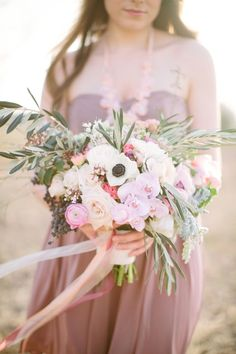 Spring bouquet with anemone Spring bouquet | Korie Lynn Photography and The Moss & Ross Floral Design | see more on:  http://burnettsboards.com/2014/05/enchanting-spring-countryside-floral-design/ #bouquet