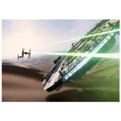 Star Wars Millenium Falcon Style Wall Paper 2 Piece 8ft x 10ft / 244cm x 305cm Wall Mural AOA®: Amazon.co.uk: Kitchen & Home