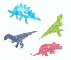 Dino potato stamps stamps - Flickr - Photo Sharing!