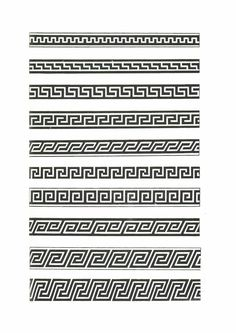 Pattern Drawing, Pattern Art, Print Patterns, Border Pattern, Border Design, Forearm Band Tattoos, Village Map, Greek Pattern, Polynesian Designs