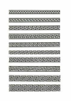 Pattern Drawing, Pattern Art, Print Patterns, Border Pattern, Tiara Tattoo, Zeus Tattoo, Forearm Band Tattoos, Greek Pattern, Polynesian Designs