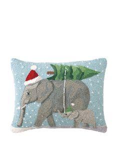 Scott Church Christmas Elephants Hook Pillow, http://www.myhabit.com/redirect/ref=qd_sw_dp_pi_li?url=http%3A%2F%2Fwww.myhabit.com%2F%3F%23page%3Dd%26dept%3Dhome%26sale%3DA1L32UN4GBQKW6%26asin%3DB00DKZ8IQK%26cAsin%3DB00DKZ8IQK