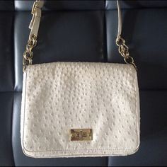 White& gold The limited purse White purse that pretty much goes with everything! Worn couple times. Everything is perfect just the front lock part where it opens and closes has marks. The Limited Bags Shoulder Bags