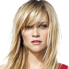 I have always loved Reese's hair ... I want bangs again - Scott and the girls say NO... It's cheaper than Botox!!