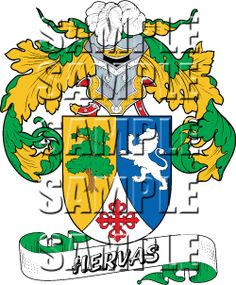 Hervas Family Crest apparel, Hervas Coat of Arms gifts