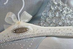 custom bridal hangers, bridal gown hangers, wedding dress hangers. www.blackbowbridalhangers.com #weddingdresshangers #weddingdresses #wedding #weddingdress #weddinghanger #bridalgownhanger #bridal #hangers #weddinggownhanger #gown hanger