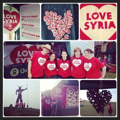 #LoveSyria #LoveWickerHearts #Love campaigning in the sunshine with @Darren Himebrook Vogelsang Scotland! via @OxfamGlasgow