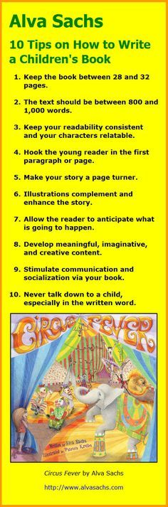 Alva Sachs: 10 Tips on How to Write a Children's Book