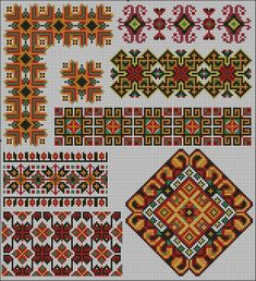 Creative Embroidery, Crewel Embroidery, Cross Stitch Embroidery, Embroidery Patterns, Crochet Patterns, Cross Stitch Borders, Cross Stitch Art, Cross Stitching, Cross Stitch Patterns