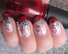 Christmas French with China Glaze Ruby Pumps - Polish this!