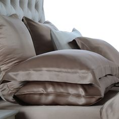 Best seller: Pure Silk Pillow Sham light coffee For bedding, the higher the weight in momme, the better the silk bedding is.
