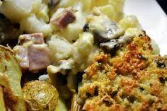 Bloemkool met champignon en ham uit de oven