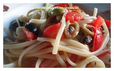 Toscana Mia Cooking: Tomatoes, Olives , Capers snd Basil Spaghetti Sauce