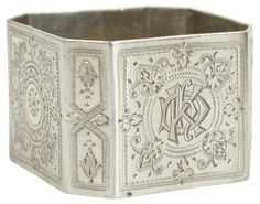 Ornate Sterling Silver Napkin Ring, 1890