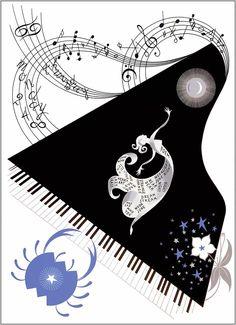Erte. The Zodiac Cancer