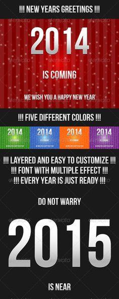 New Year Greetings - #vector #customizable #buy #happy #new #year