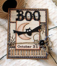 Boo October 31 I love the colours and layout Halloween Cards, Halloween Fun, Halloween Lanterns, Halloween Scrapbook, Halloween Clipart, Halloween Goodies, Halloween Invitations, Halloween Items, Halloween Projects