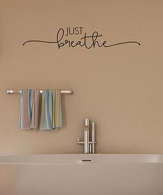 Wall Decals For Bathroom Quotes Just Breathe Wall Decal Best Bathroom Wall Decals Quotes Bathroom Wall Decals, Vinyl Wall Decals, Wall Stickers, Vinyl Wall Quotes, Vinyl Sayings, Bedroom Decor, Wall Decor, Wall Art, Just Breathe