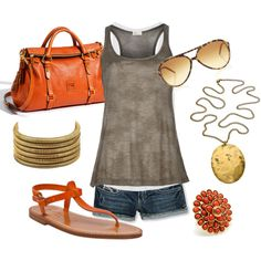 ORANGE! created by ginamichellesewell on Polyvore