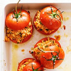 46 fresh tomato recipes | Risotto-Stuffed Tomatoes | Sunset.com
