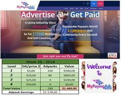 Have you never heard of My Paying Ads (MPA) - see that´s a mistake! I´ve been a member for 1 year and a half now and my business is growing day by day.   Watch this Hangout: https://www.youtube.com/watch?v=qhkUCS_5Xfs  Decide for yourself and JOIN my team by clicking here: https://www.mypayingads.com/ref/12220/signup   Are you coming?