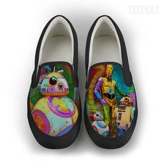 Droid Retro Women Slip-On Canvas Shoe #prints #printable #painting #canvas #empireprints #teepeat