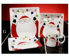 Would kill to have this holiday dish set. Christmas China, Christmas Dishes, Christmas Tablescapes, Christmas Love, Christmas Crafts For Kids, Christmas Decorations, Xmas, Christmas Drawing, Christmas Paintings