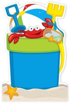 . Kids Beach Party, Beach Kids, Summer Kids, Beach Party Invitations, Splash Party, Beach Clipart, Card Sentiments, Beach Ball, Party Planning