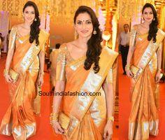 shilpa_reddy_gold_kanjeevaram_saree_swathi_nimmagadda_wedding.jpg (904×768)