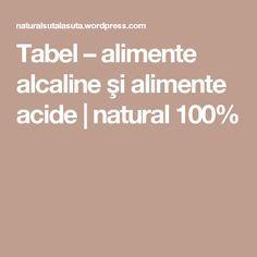 Tabel – alimente alcaline şi alimente acide | natural 100%