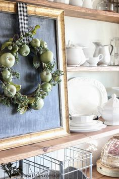 Spring Mantel Decorating - The Wood Grain Cottage