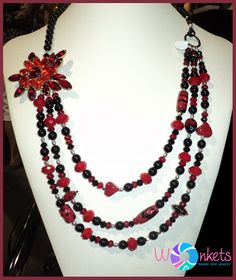 Crimson Clusters - black and red, fun and sophisticated.