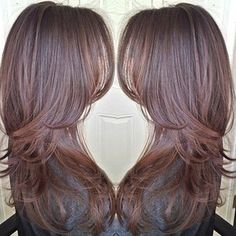 Brown hair with beautiful layers