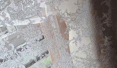 Lace fabric,off-white alencon lace fabric ,wedding gown fabric ,retro…