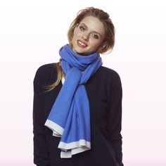 Travel Wrap Blue Cashmere, Scarves, Winter, Blue, Travel, Shopping, Collection, Fashion, Scarfs