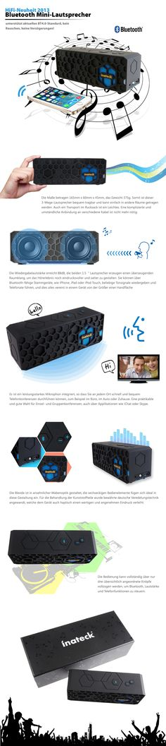 Inateck Wireless Bluetooth Portable HiFi Speaker Outdoor Mini Stereo Speaker System Sound  Item link:  http://www.amazon.co.uk/dp/B00E5XV0Q6