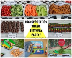 Transportation Theme Birthday Party // -Momista Beginnings #transportationtheme #birthdayparty #carsbirthday #trainbirthday #transportationbirthday #planestrainsautomobiles #birthdaytheme