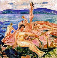 Midsummer Edvard Munch - 1915