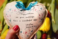 Personalized wedding gift personalised heart giftWedding by Tulito