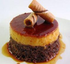 Pastel Imposible!  Flan y bizcocho de chocolate!