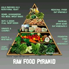 Raw food pyramid - By composing your diet of approximately 75% alkaline foods and only 25% acidic foods, you can return your body to its healthy, natural state. An alkaline diet works to reduce the stress placed on your liver, kidneys, and other organs by having an overly acidic (toxic) body - http://saksa.sevenpoint2.com