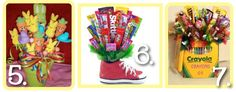 candy bouquets as an option for Valentine's Day, birthdays, showers, holidays and more.