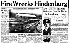 "A newspaper article about the Hindenburg disaster, published in the Trenton Evening Times (Trenton, New Jersey), 6 May 1937. Read more on the GenealogyBank blog: ""How to Research Old Newspaper Headlines for Family History."" http://blog.genealogybank.com/how-to-research-old-newspaper-headlines-for-family-history.html"