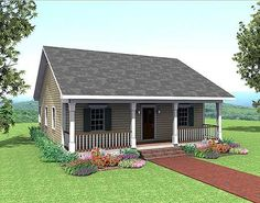 Plan W2561DH: Country, Cottage, Narrow Lot House Plans & Home Designs