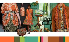 Stylink colour trends 2017 - 'Flower Parade' by Floor Borsboom #color #trends #colortrends #moodboard #collage