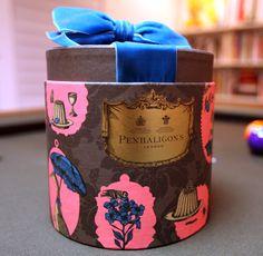 decadent penhaligon's velvet ribboned hat box. love love love.