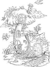 Image Result For Fairy Tree House Coloring Pages With Images